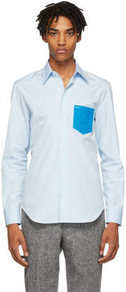 Maison Margiela Blue Poplin PVC Shirt