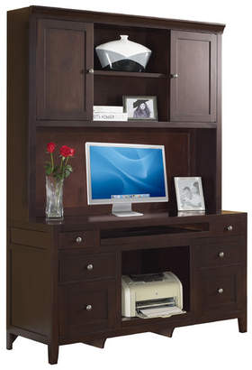 Fairfax Home Collections Companion Credenza Desk with Hutch in Cherry