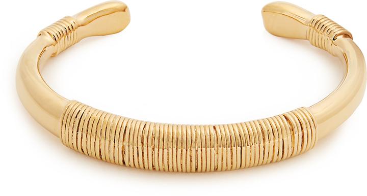 Aurelie BidermannAURÉLIE BIDERMANN Alhambra gold-plated cuff