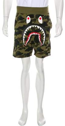 A Bathing Ape Drop Crotch Camo Shark Shorts w/ Tags