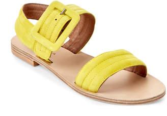 Gabriella Lime Buckled Slingback Sandals