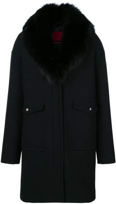 Moncler Gamme Rouge long fur stole coat