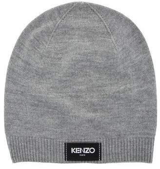 Kenzo Wool Rib Knit-Trimmed Beanie w/ Tags