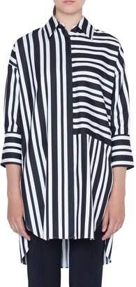 Akris Punto Stripe Tunic Blouse
