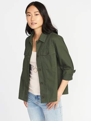 Old Navy Twill Utility Swing Jacket for Women