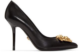 Versace Black Medusa Tribute Heels