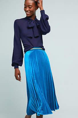 Maeve Pleated Velvet Skirt