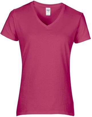 Gildan Womens/Ladies Premium Cotton V-Neck T-Shirt (2XL)