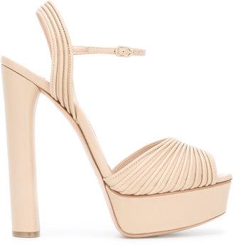 Casadei open toe platform sandals $837.45 thestylecure.com