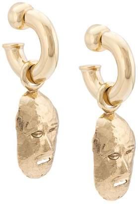Ellery face shaped earrings