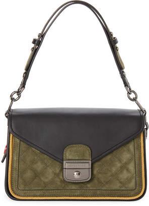 Longchamp Khaki   Black Mademoiselle Sellerie Bag ba29ce1b250ab