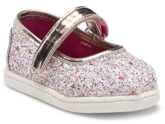 Toms Candy Cane Glitter Party Mary Jane Slip-On Sneaker (Baby, Toddler, & Little Kid)