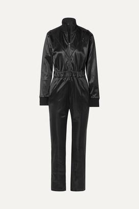 RtA Antonia Belted Cotton-blend Satin Jumpsuit - Black