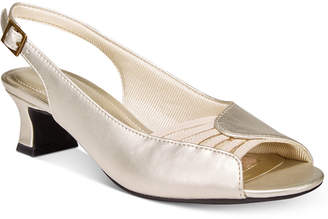 Easy Street Shoes Bliss Slingback Peep-Toe Pumps Women's Shoes