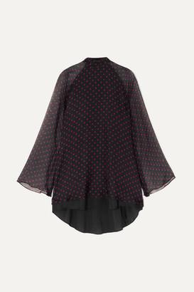 RtA Ariana Polka-dot Silk-chiffon Mini Dress - Black