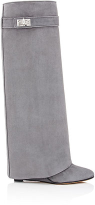 Givenchy Women's Shark Line Knee Boots-DARK GREY $2,125 thestylecure.com