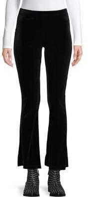 Topshop PETITE Velvet Flare Pants