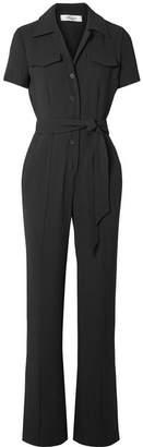 Diane von Furstenberg Daisy Crepe Jumpsuit - Black