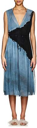 Raquel Allegra Women's Tie-Dyed Silk Plissé Midi-Dress