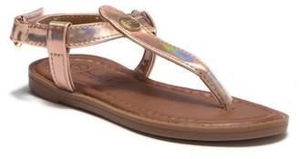 Nicole Miller Iridescent T-Strap Sandal (Toddler)