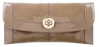 Emporio Armani Patent Leather Clutch