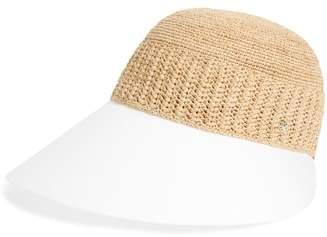 Helen Kaminski Wide Peak Raffia & Cotton Cap