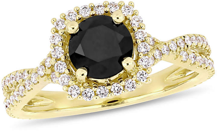 MODERN BRIDE Womens 1 1/2 CT. T.W. Genuine Diamond Black Engagement Ring