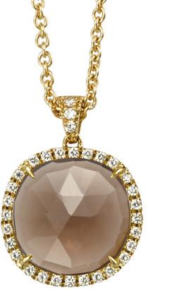 Marco Bicego Jaipur 18K 0.24 Ct. Tw. Diamond & Smokey Quartz Pendant