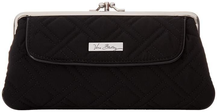 Vera Bradley Kisslock Wallet Wallet Handbags - CLASSIC BLACK W/ BLACK TRIM - STYLE