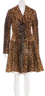 Alaia Leopard Print Ponyhair Coat w/ Tags