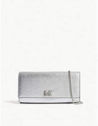 MICHAEL Michael Kors Mott metallic-leather clutch bag