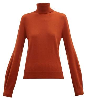 Chloé Iconic Roll Neck Cashmere Sweater - Womens - Brown