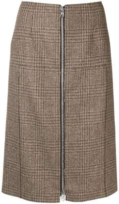 Maison Margiela check pencil skirt
