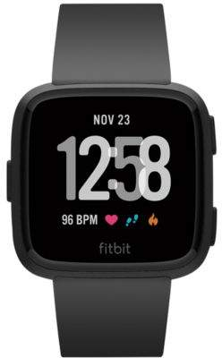 Fitbit VersaTM Black Band Touchscreen Smart Watch 39mm
