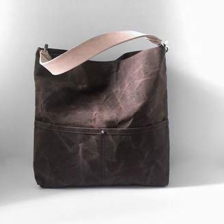 Independent Reign Waxed Canvas Tote Bag - Dark Brown