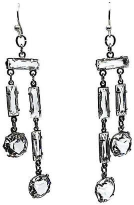 One Kings Lane Vintage 1920s Sterling Silver & Crystal Earrings - Little Treasures