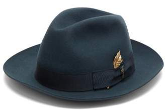 Borsalino Felt Fedora Hat - Mens - Navy