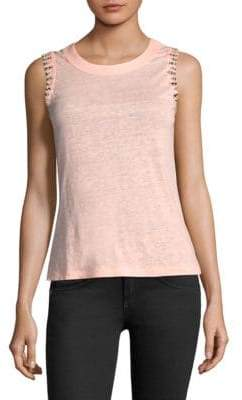 Generation Love Alanis Embellished Linen Top