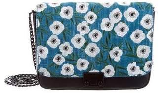 Loeffler Randall Floral Embroidered Lock Shoulder Bag