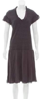 Sacai Luck Striped Knee-Length Dress