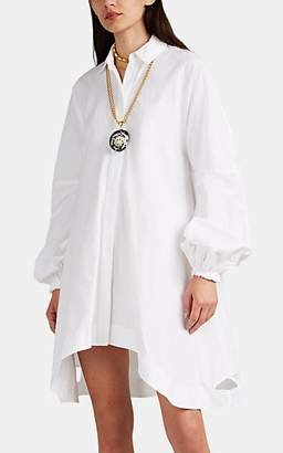 J.W.Anderson Women's Washed Piqué Cotton Swing Shirtdress - White