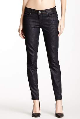 Level 99 Janice Pixie Pattern Print Ankle Ultra Skinny Jeans