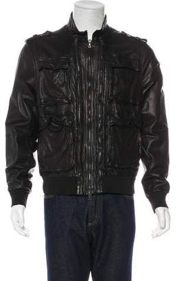 Neil Barrett Leather Field Jacket