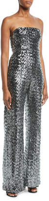 Alexis Carleen Sequin Strapless Wide-Leg Jumpsuit