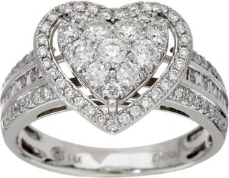 Affinity Diamond Jewelry 1.00 cttw Heart Cluster Diamond Ring 14K Gold by Affinity