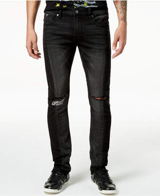 GUESS Men's Ripped Skinny Fit Stretch Jeans