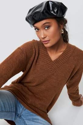 Trendyol V-Neck Knitted Pullover Camel