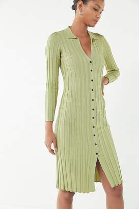 Urban Outfitters Alta Button-Down Sweater Dress