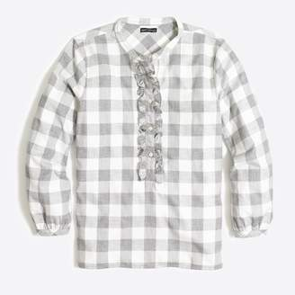 J.Crew Factory Petite ruffle flannel shirt