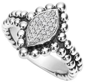 Women's Lagos Caviar Spark Diamond Marquise Ring $895 thestylecure.com